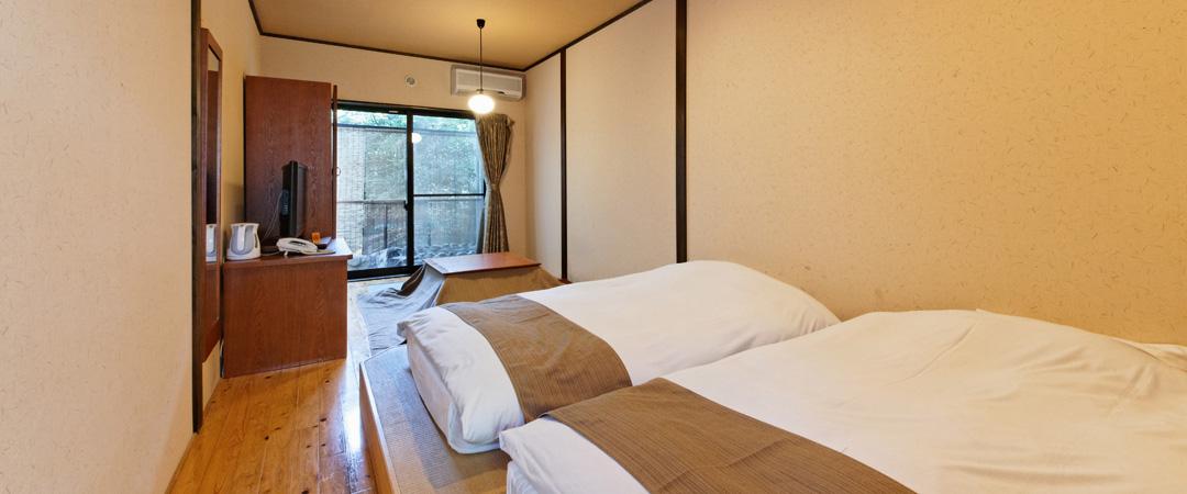 1階露天風呂付ツイン和室 (禁煙)